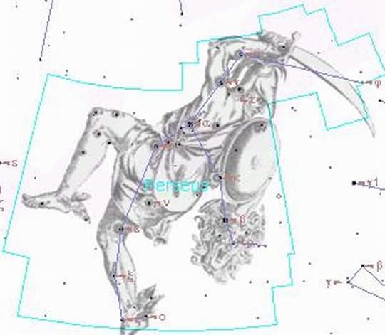 Созвездие персея фото